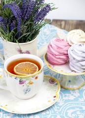 lemon tea and marshmallow