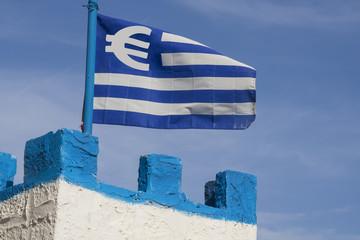 Greek Euro Flag