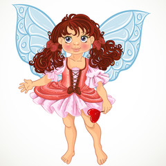 Pretty fairy girl with magic wand