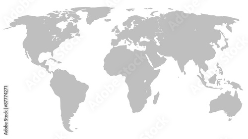 Illustration graphic vector world map grey stock image and royalty illustration graphic vector world map grey gumiabroncs Choice Image