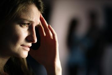 Woman suffering after breakup