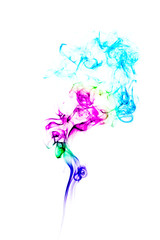 Colorful Abstract Wave and smoke swirls background.