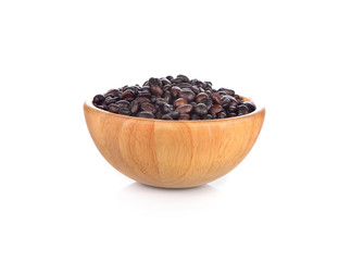 wood cup of coffee on whiite background