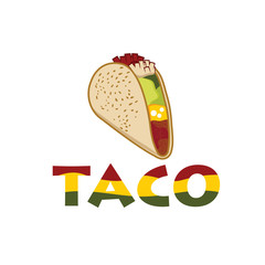 Mexican Taco illustration