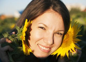 Girl in sunflower