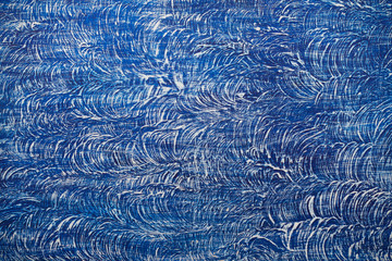 Old blue and white painted background or texture