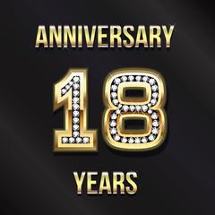 18 years anniversary logo