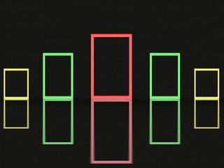 Creative frame design on black background blank