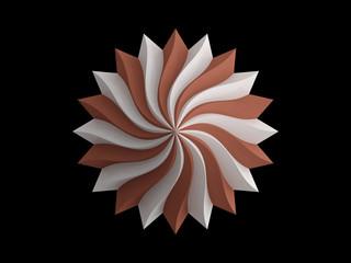 Brown flower design on black background