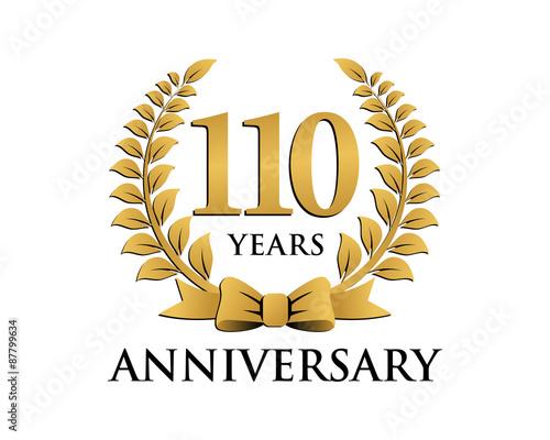 """anniversary logo ribbon wreath 110"" Stock image and ..."