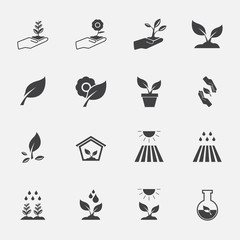 plant icon set.