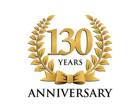anniversary logo ribbon wreath 130
