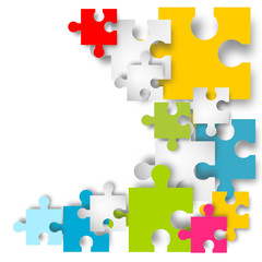 puzzle puzzleteile bunt hintergrund