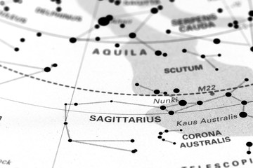 Sagittarius star map zodiac.
