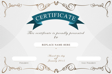 Search photos certificate frame certificate border certificate template vector illustration yadclub Images