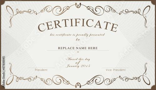 Certificate border certificate template vector illustration certificate border certificate template vector illustration yadclub Gallery
