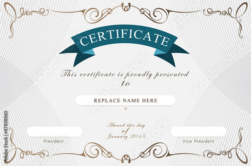 certificate border certificate template vector illustration