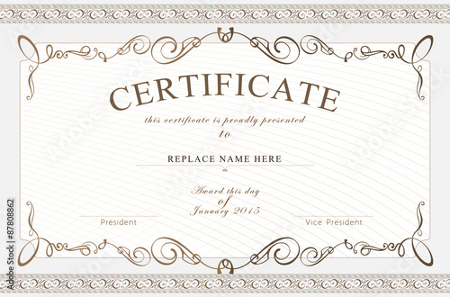 Certificate border certificate template vector illustration certificate border certificate template vector illustration stock image and royalty free vector files on fotolia pic 87808860 yelopaper Gallery