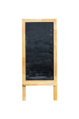 Blank menu blackboard outdoor display isolated on white backgrou