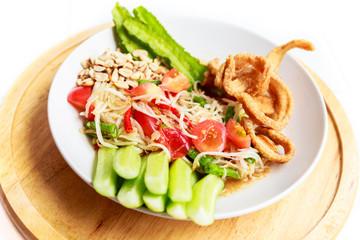 Papaya salad, Somtam in thai food