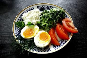 classic ethnic vegetarian breakfast