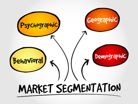 Market segmentation mind map, business management strategy