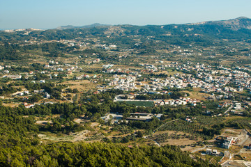 Greek view of the city from a bird's eye Rhodos