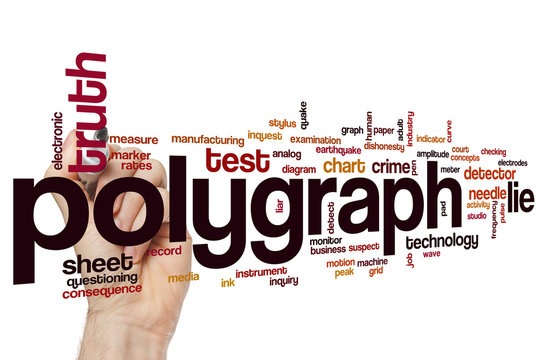 Polygraph word cloud