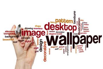 Wallpaper word cloud concept