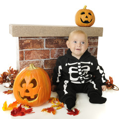 Cute Little Halloween Skeleton
