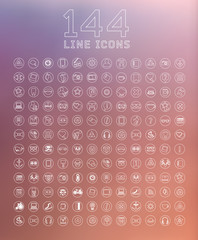 modern thin line icons for web and mobile