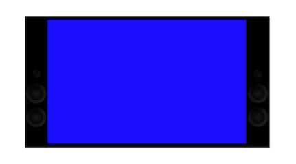 TV 4K isolate on white background