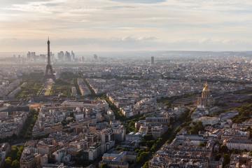 Paris view at night from Tour Montparnasse