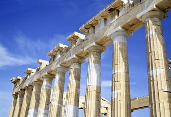 Acropolis columns in Greece