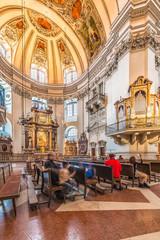 The Salzburg Cathedral (Salzburger Dom) in Salzburg, Austria