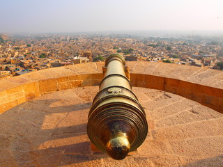 Poster Fortification Cannon at Jaisalmer fort