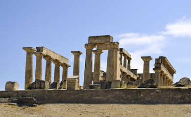 the temple of Aphaia in Aegina island Greece