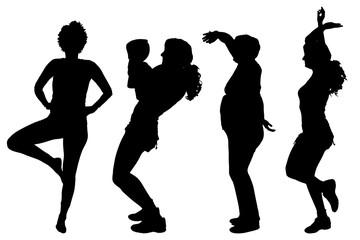 Vector women silhouette.