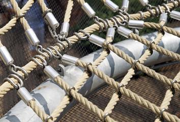 detail of an elastic net