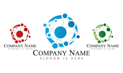 Technology Networking - Logo Template.