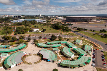 Aerial View of Brasilia's Flea Market