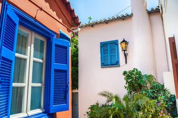 Beautiful street in Athens, Greece