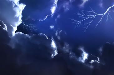 stormy night sky, fantasy background