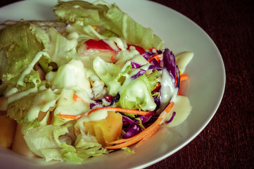 salad with filter effect retro vintage style