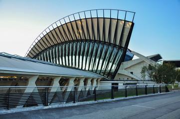 Architecture d'aéroport, architecture urbaine, Lyon, France