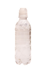 Small water bottle isolated on white