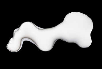 milk on a black background