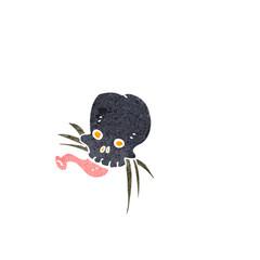 Printed roller blinds Watercolor Skull little skull bug cartoon