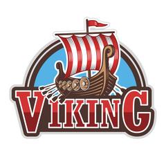 Viking ship sport logo