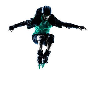 man Roller Skater inline Blading